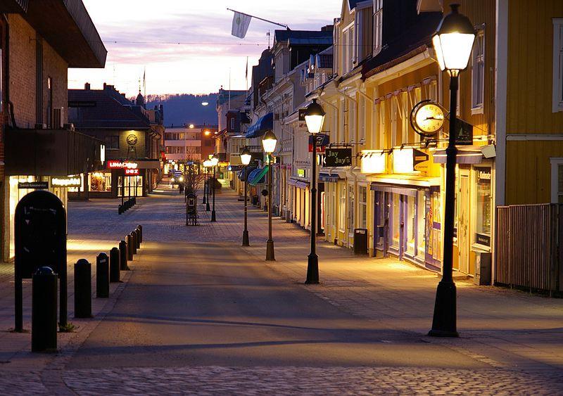 Empty Swedish street